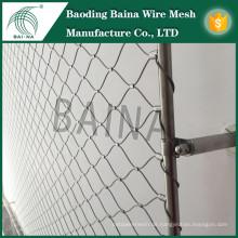 Hebei Baina flexiblen gestrickten stianless Stahldraht Seil Mesh Zaun / Amusement Park Security Products