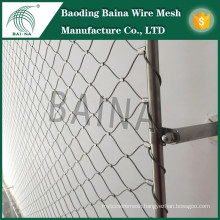 Hebei Baina flexible knitted stianless steel wire rope mesh fence/Amusement Park Security Products
