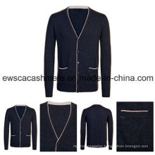 Men′s Pure Cashmere Cardigan A16m-001bw