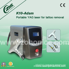 K10 1064nm / 532nm Q Déclenché ND YAG Laser pour Eyeliner Removal