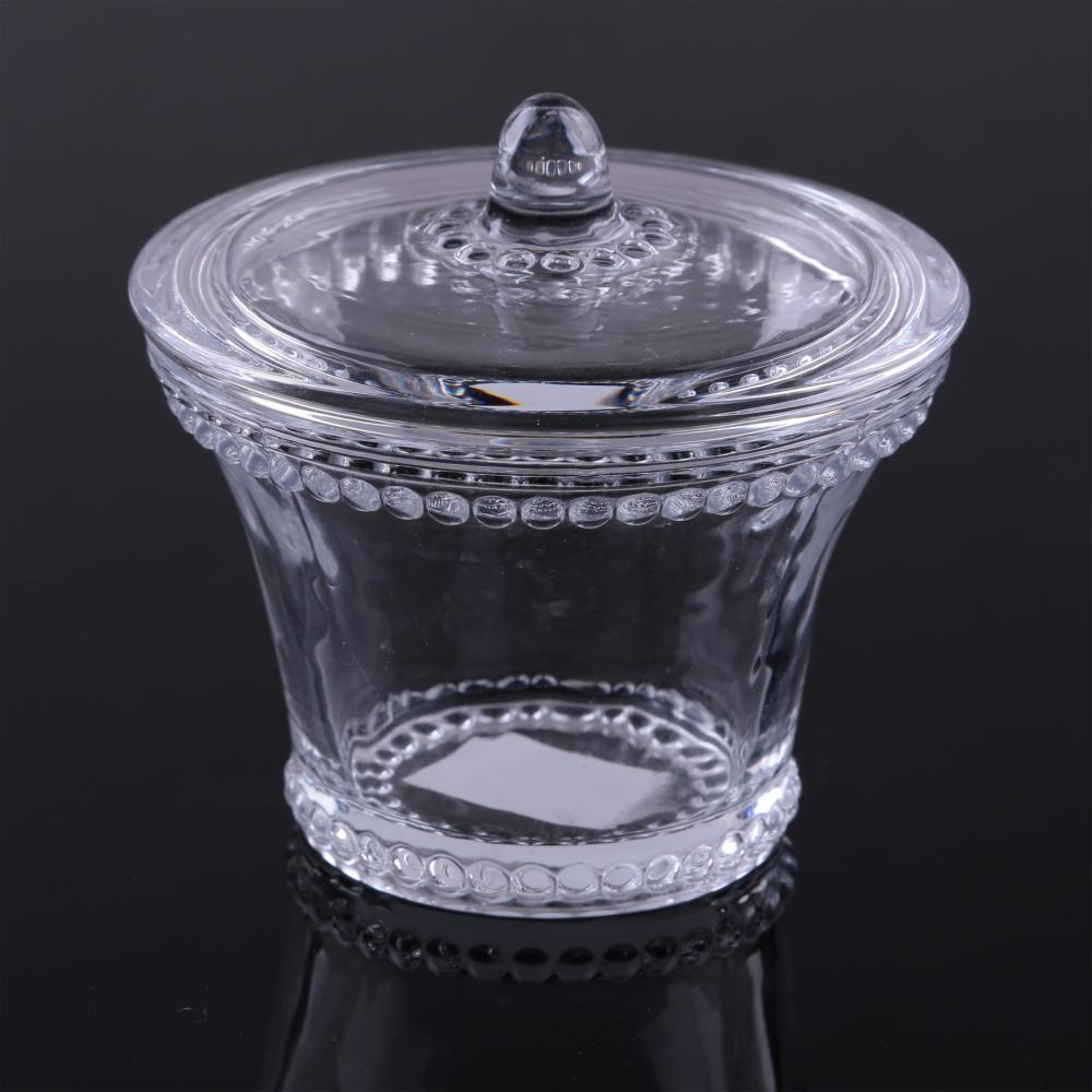 Pearl Rim Candy Jar With Lid