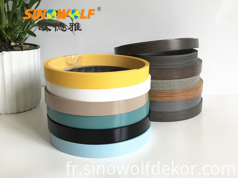 PVC Solid Color Edge Banding Design