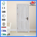 JHK-004 Natural Brich 4 Panel  Laminate Wood Door  Design