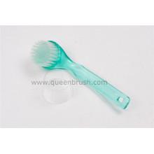Brosse à visage de nettoyage à poignée en plastique longue à chaud