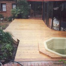 Decking del jardín antideslizante natural de la madera dura del merbau