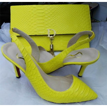 Bright Color Sling Back Sandals with Matching Handbags (G-4)