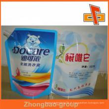Hot Sealed bolsa de plástico bico para o fertilizante líquido e detergente de lavanderia