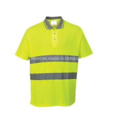 Mode Hallo Sichtbarkeit Polo-Shirt, treffen En / ANSI, Direct Factory