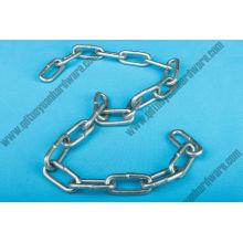 Cadena de enlace de acero suave ordinario de alta calidad