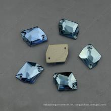Flat Back Aquamarine cose en diamantes de imitación con dos agujeros (DZ-3070)