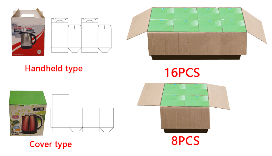 16 Pcs packing
