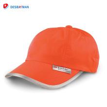 2017 Nouveau produit salut-visibilité réfléchissant sécurité sport chapeau