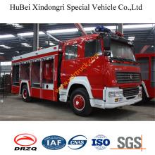 7ton HOWO polvo seco de espuma de agua coche de bomberos Euro3