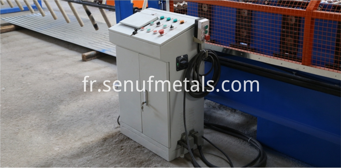 Corrugated roofing machine PLC control cabinet