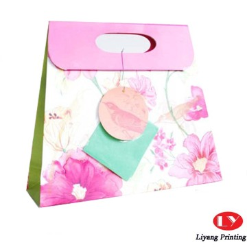 Custom high quality paper shopping bag