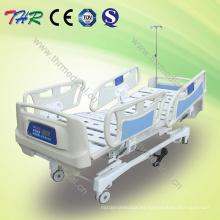 Cama de hospital eléctrico de IC de cinco funciones