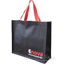 Черный Эко Рекламные сумки (hbnb-524)