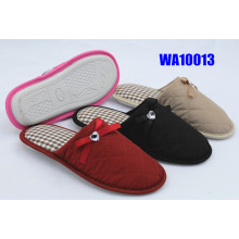 Women's Embroidered Waterproof Binding Indoor Slippers
