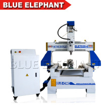 Wood Door Making CNC Router Cutting Ele7020 CNC Router Rotary 4th Axis CNC Router