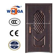 Ce caliente venta de bronce de acero de seguridad de metal de cobre puerta (W-ST-08)