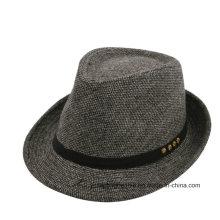 Moda Homens Fedora Felt Hat Atacado