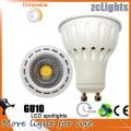 Melhor Preço High Lumen Dimmable 7W COB LED GU10 Projectores
