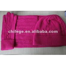 fashion cashmere hats,scarves & gloves sets