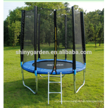 8' size optional round bungee trampoline combo with safety enclosure