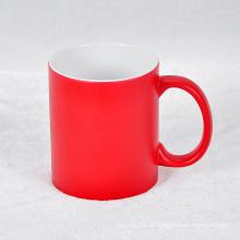 2016 Custom Printing Company Logo Porzellan Becher Keramik Kaffeetasse Red Mug