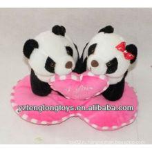 Милые и милые близнецы сердце плюшевые игрушки панда валентинки подарки