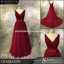 Latest Style High Quality front short long back 2016 evening gown