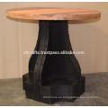 Base de metal reciclado industrial Recicle la mesa superior de madera