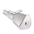 Two way single zinc alloy handle toilet brass core valve spool polish angle needle valve