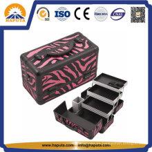 Estuche de belleza resistente Red Zebra de moda (HB-2031)