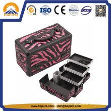 Fashionable Red Zebra Heavy Duty Beauty Case (HB-2031)