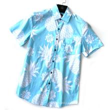 Camisa de hombre corta colorida de moda de verano