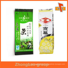 Heat sealed custom printing plastic tea pouch for tea-leaf packaging with free sample