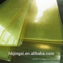 Folha de Plástico Retardador de Chama Amarela