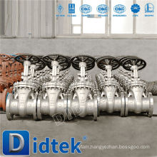 Didtek Stainless Steel Gear Operated Flange End Gate Valve With Dimensions
