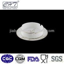 A014 High quality modern gold flower ceramic ashtray