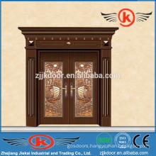 JK-C9044 luxury brass entry door imitated copper faced