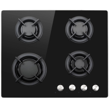 ElectriQ Gas Hobs Black Tempered Glass 60cm