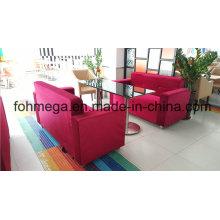 Asientos de sofá de tela roja de restaurante para la venta al por mayor (FOH-RTC11)