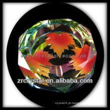 K9 Cinzeiro de Cristal Poligonal com Imagens Impressas