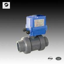 PVC electric actuator ball valve 40mm 50mm 220v