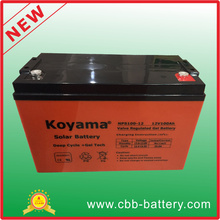 12V 100ah 3kw PV-System Deep Cycle Gel Batterie Nps100-12
