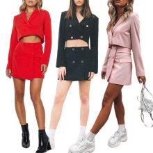 2021 new temperament suit skirt two-piece skirt