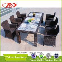 Cadeira de mesa de jantar de rattan de jardim anti UV (DH-6079)