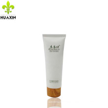 120ml facial cream plastic tube packaging with wooden cap