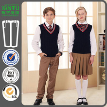 2016 Beautiful Sweat Vest Band Primary School Uniform Designs